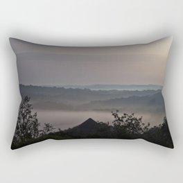 Foggy Summer Morning in France Rectangular Pillow