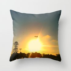 Air Plane In The Sun Throw Pillow