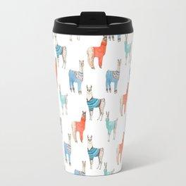Llamas with Jumpers Travel Mug