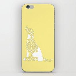 Yellow Damask Labrador Retriever Dog iPhone Skin