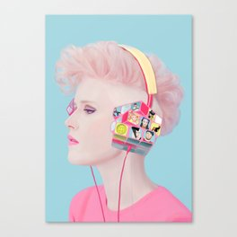 Rubik's headphones Canvas Print