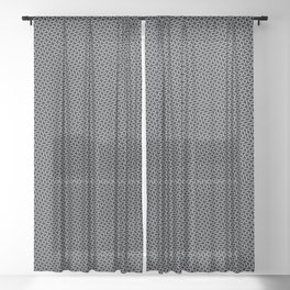 Black and white wavy lines Sheer Curtain