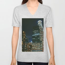 DTLA Nightscape Unisex V-Neck
