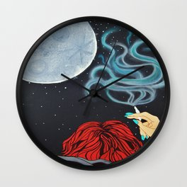 Midnight Toker (#2), Smoking Lady Series Wall Clock