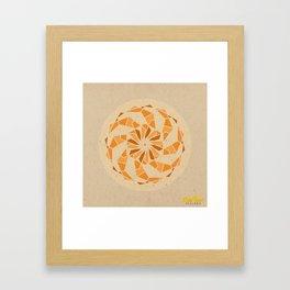 Sacral Chakra Mandala Framed Art Print