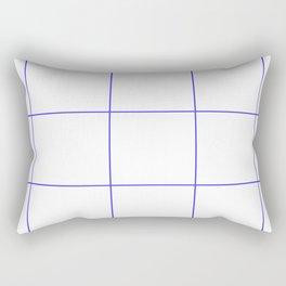 Blue Lines White Polygons Rectangular Pillow