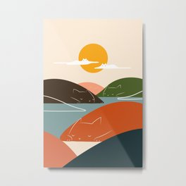Cat Landscape 104 Metal Print