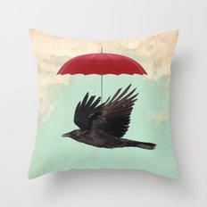 Raven Cover Throw Pillow
