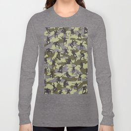 Skater Camo WOODLAND Long Sleeve T-shirt