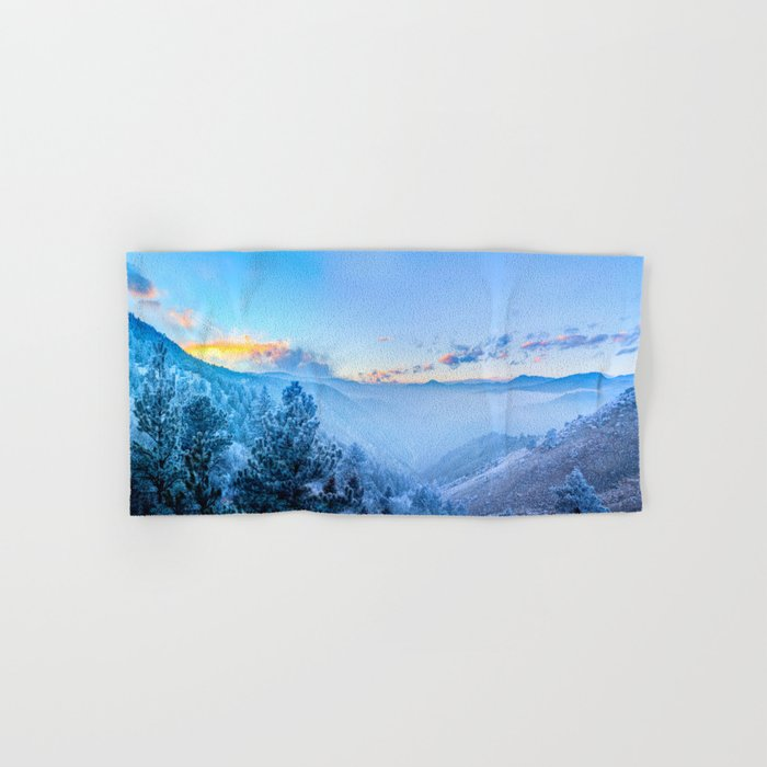 Snow Mountains Sunrise Hand & Bath Towel