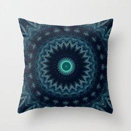 Pattern Abstrait Tropical Kaléidoscope Throw Pillow