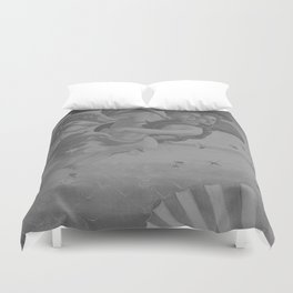 Black White Angels Duvet Cover