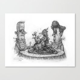 CIVILIZED SAVAGES Canvas Print