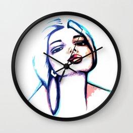 She Glows Blue Wall Clock