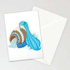 Aquarius Girl Stationery Cards