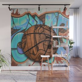 Basketball Graffiti Team Sports Design Wall Mural