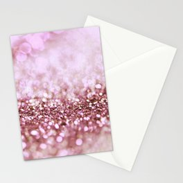 Pink Sparkle shiny glitter effect print - Sparkle Valentine Backdrop Stationery Cards