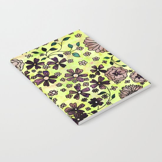 Brown Small Flowers Notebook