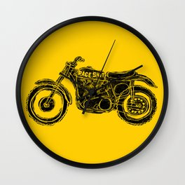 race shit Wall Clock
