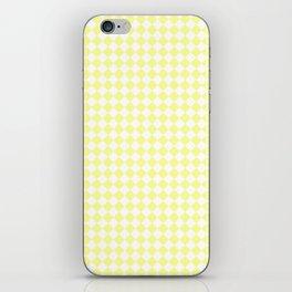 Small Diamonds - White and Pastel Yellow iPhone Skin