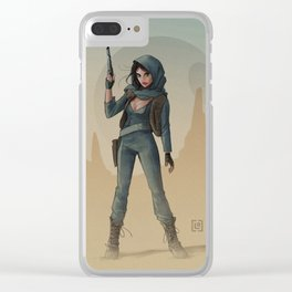 Jyn Erso - Fan Art Clear iPhone Case