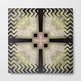 Zlata Geometrica Metal Print