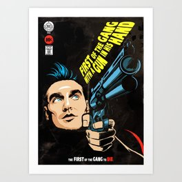 First of the Gang with a Gun in his Hand Art Print