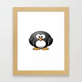 100 Days of School Survived 100 Days of Me Penguin Framed Art Print