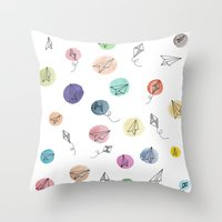 plane Throw Pillows featuring Plane by Infra_milk