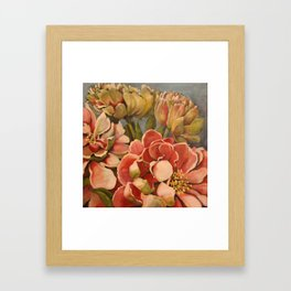 Peonies in Pink Framed Art Print