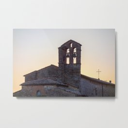 Bell Tower Tuscany Metal Print