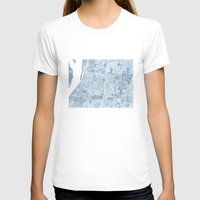 blueprint T-shirts featuring Memphis Tennessee blueprint watercolor map by Anne E. McGraw