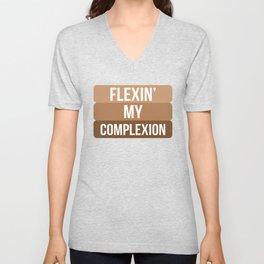 Flexin My Complexion Unisex V-Neck