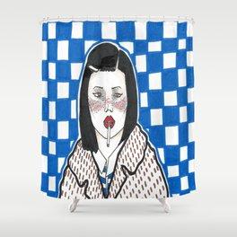 Asian  Margot Tenanbaum Shower Curtain