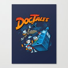 Doctales Dr Who/Ducktales Canvas Print