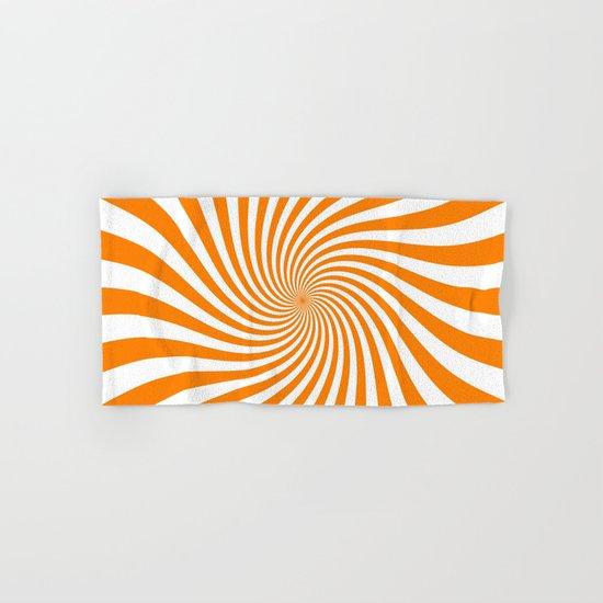 Swirl (Orange/White) Hand & Bath Towel