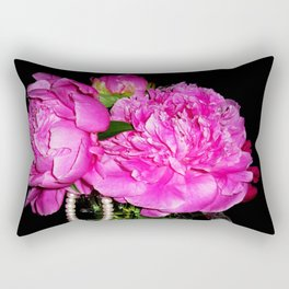 Peony Bouquet in a Crystal Vase Rectangular Pillow