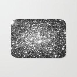 Black Slate Sparkle Stars Bath Mat