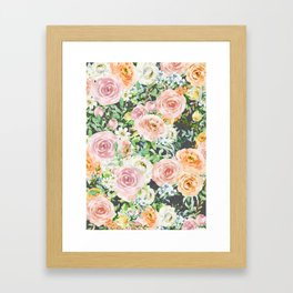 Blooming Touches Framed Art Print