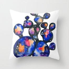 Cosmic Cactus Throw Pillow