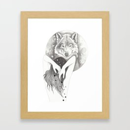 WolfMoon Framed Art Print