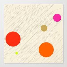 Circles orange Canvas Print
