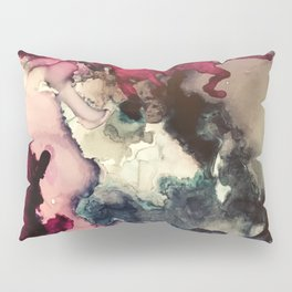 Dark Inks - Alcohol Ink Painting Pillow Sham