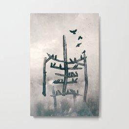 Stickman Metal Print