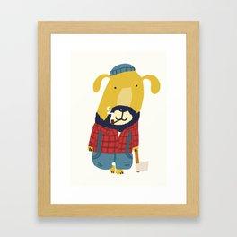 Rugged Roger - the lumberjack Framed Art Print