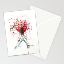 the song unheard Stationery Cards