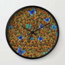 Spring Time Butterflies Wall Clock