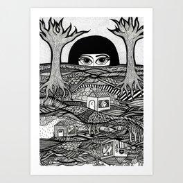 Voyeur Art Print