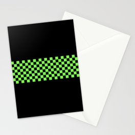 Green Checkerboard Stationery Cards