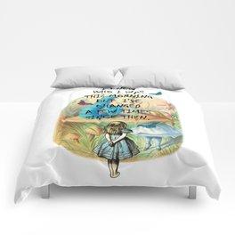 Alice In Wonderland Quote Comforters